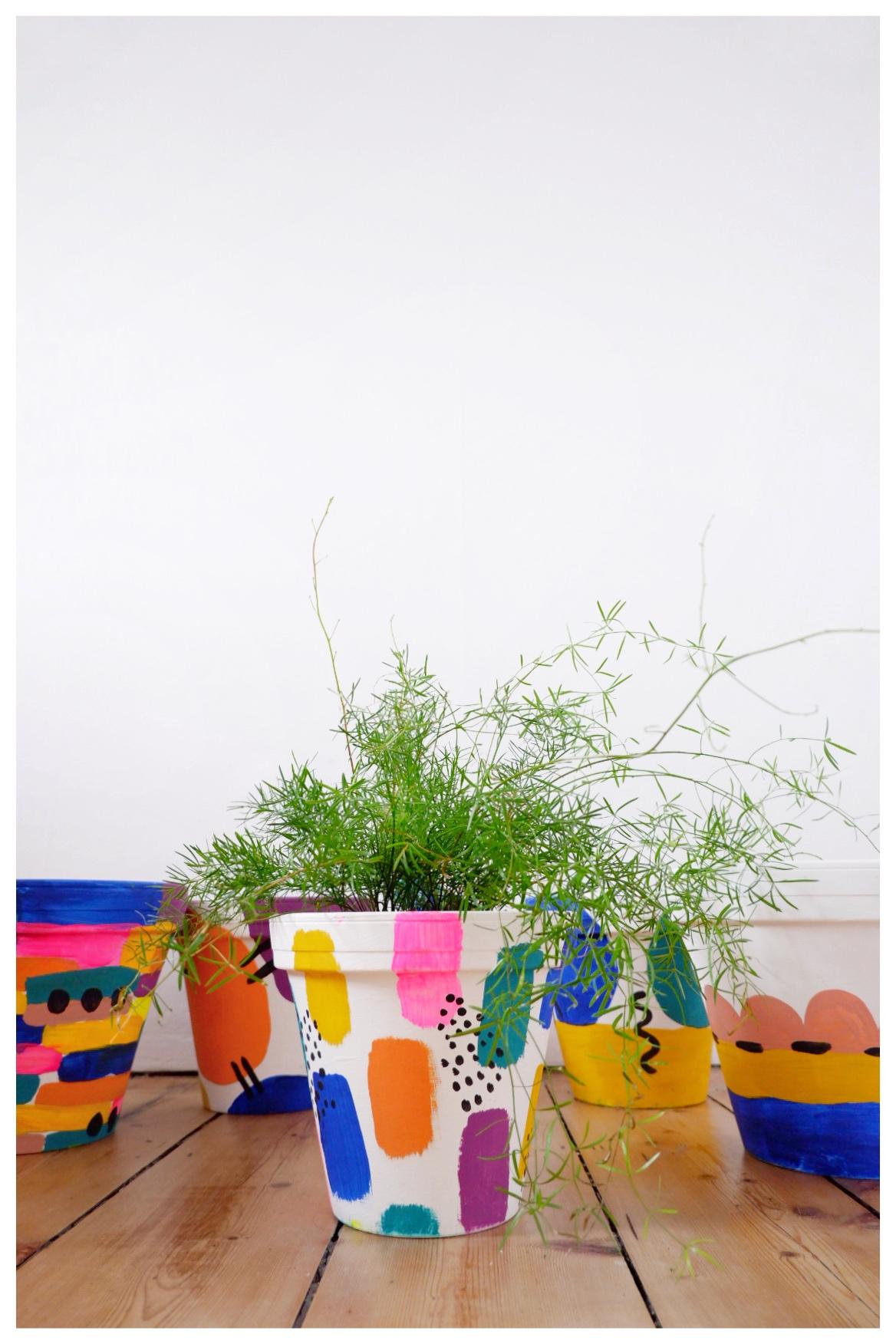 Diy Painted Plant Pots That S So Gemma